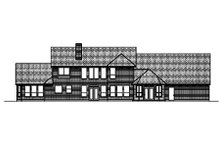 Country Exterior - Rear Elevation Plan #84-432