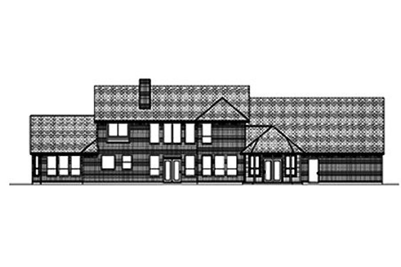 Country Exterior - Rear Elevation Plan #84-432 - Houseplans.com