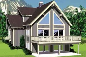 Modern Exterior - Front Elevation Plan #72-477