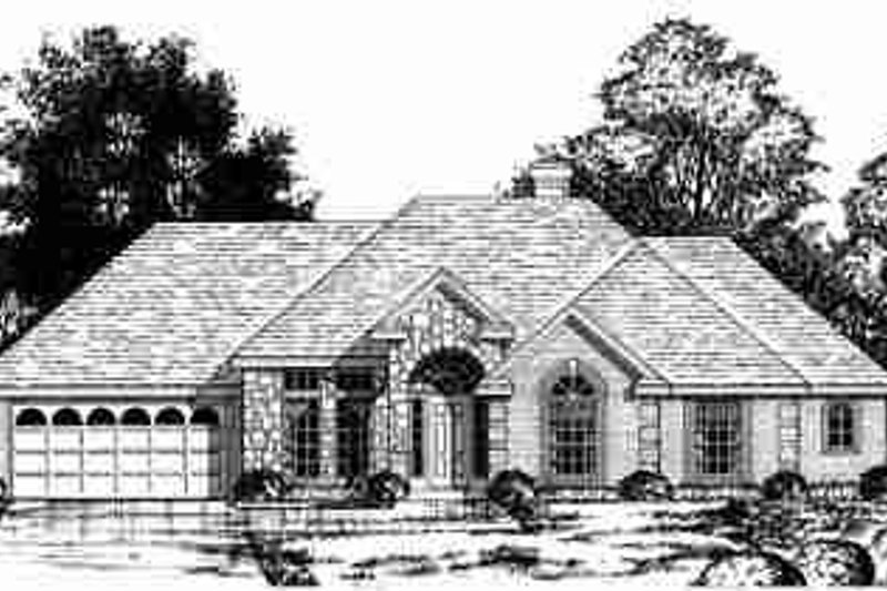 European Exterior - Front Elevation Plan #40-228