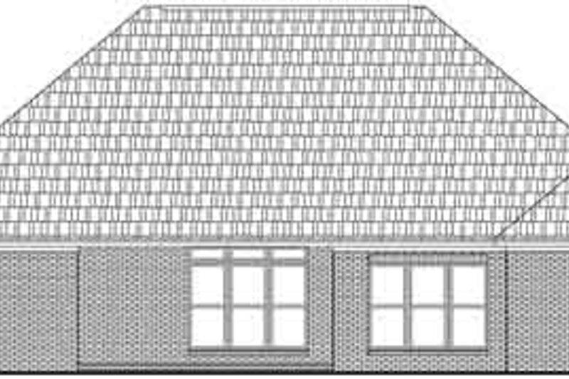 European Exterior - Rear Elevation Plan #21-181 - Houseplans.com