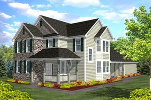 Traditional Exterior - Front Elevation Plan #50-117