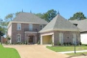 Colonial Style House Plan - 4 Beds 4 Baths 3270 Sq/Ft Plan #81-1506 Exterior - Front Elevation