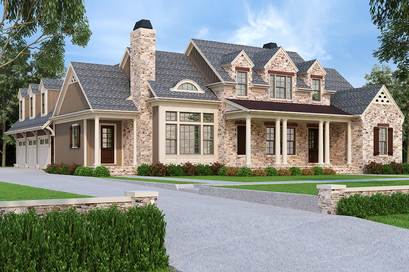 Traditional Exterior - Front Elevation Plan #927-43 - Houseplans.com