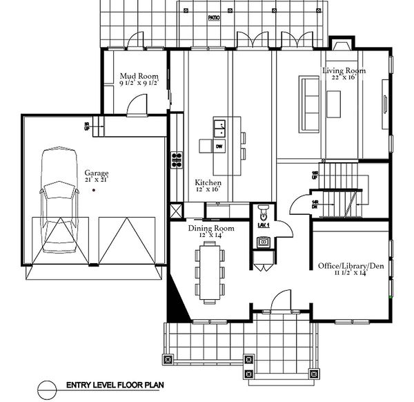 Traditional Floor Plan - Main Floor Plan Plan #497-20