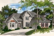 House Plan Design - European Exterior - Front Elevation Plan #56-174
