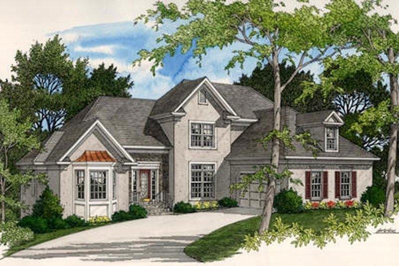 Dream House Plan - European Exterior - Front Elevation Plan #56-174