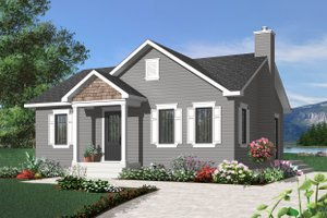 Craftsman Exterior - Front Elevation Plan #23-2374
