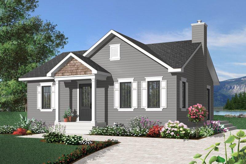 House Plan Design - Craftsman Exterior - Front Elevation Plan #23-2374