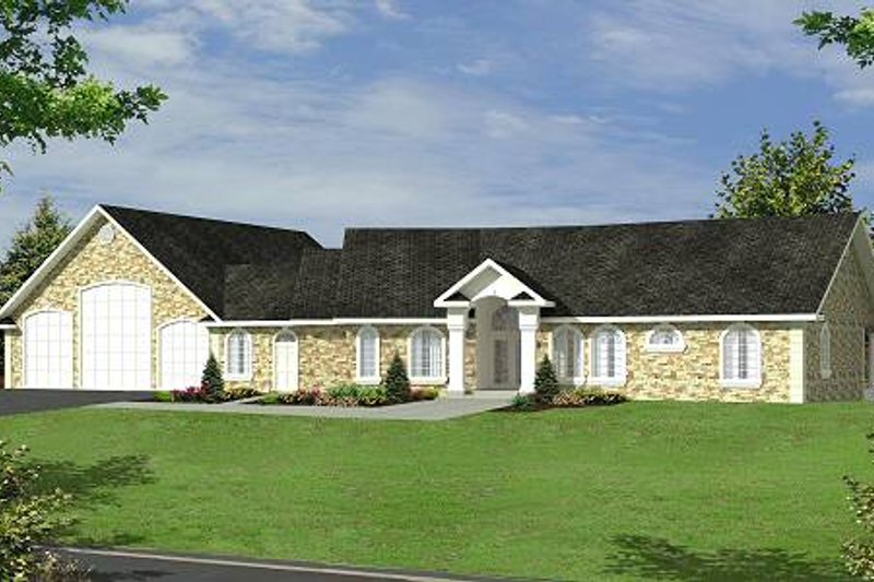 Home Plan - Ranch Exterior - Front Elevation Plan #117-563