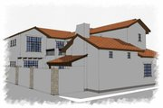 Mediterranean Style House Plan - 3 Beds 4 Baths 4472 Sq/Ft Plan #449-18 Photo