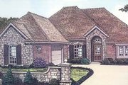 European Style House Plan - 3 Beds 2 Baths 1795 Sq/Ft Plan #310-577 Exterior - Front Elevation