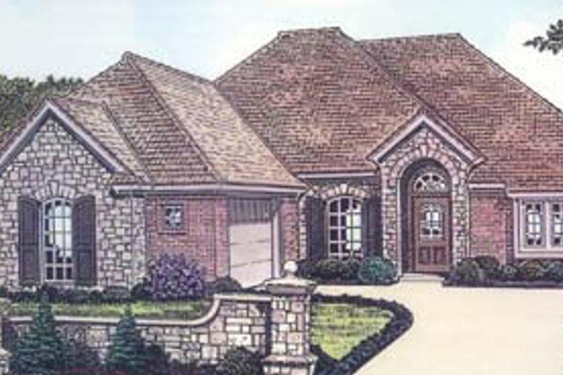 European Style House Plan - 3 Beds 2 Baths 1795 Sq/Ft Plan #310-577