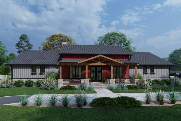Farmhouse Exterior - Front Elevation Plan #120-274