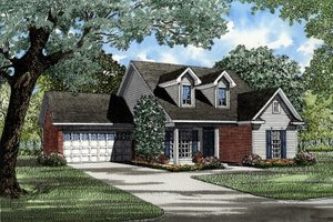 Traditional Exterior - Front Elevation Plan #17-196