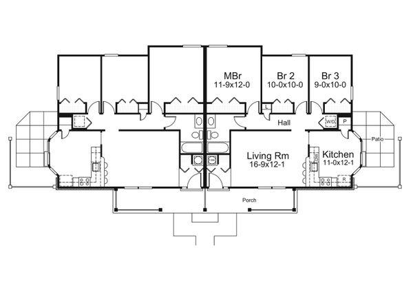 Country Floor Plan - Main Floor Plan #57-682