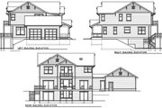 Craftsman Style House Plan - 5 Beds 3 Baths 2968 Sq/Ft Plan #100-504 Exterior - Rear Elevation