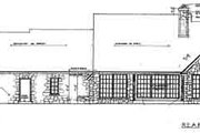 Colonial Style House Plan - 3 Beds 2.5 Baths 2082 Sq/Ft Plan #310-238 Exterior - Rear Elevation