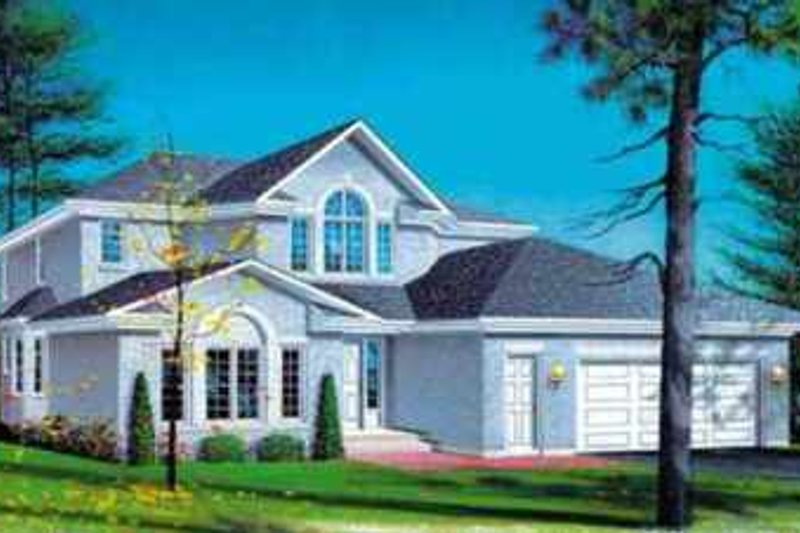 Traditional Style House Plan - 4 Beds 2.5 Baths 2614 Sq/Ft Plan #25-2221 Exterior - Front Elevation