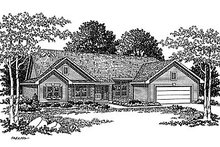 Dream House Plan - Traditional Exterior - Front Elevation Plan #70-196