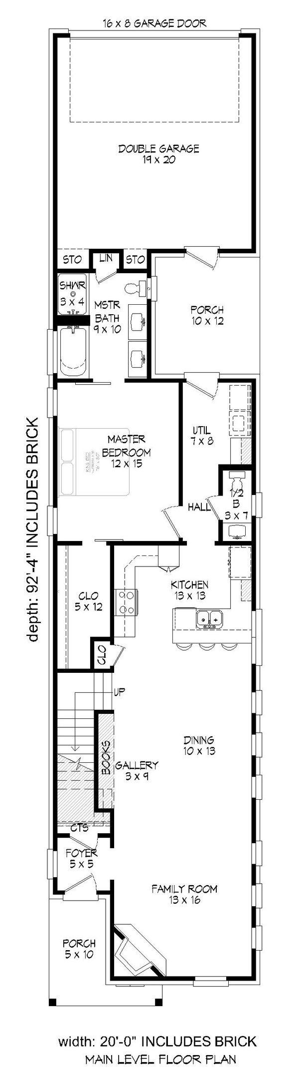 Dream House Plan - Traditional Floor Plan - Main Floor Plan #932-399