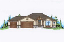 Ranch Exterior - Front Elevation Plan #5-232