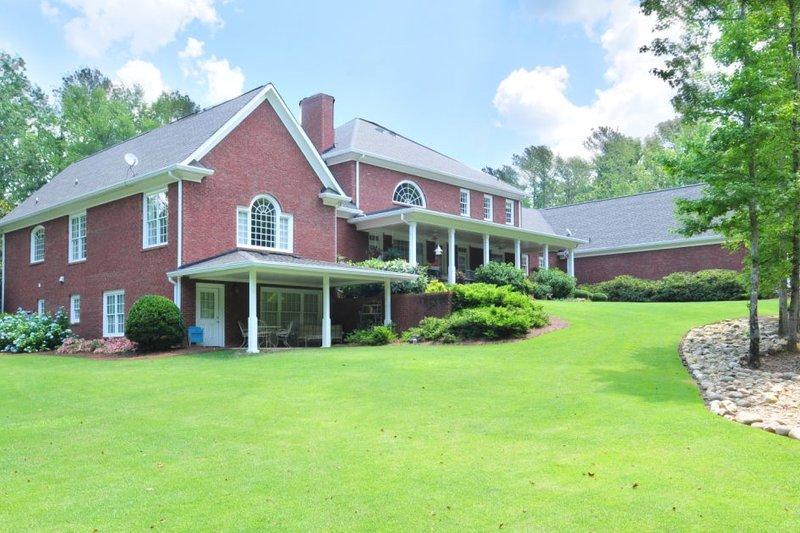Classical Exterior - Rear Elevation Plan #137-113 - Houseplans.com