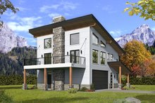 Dream House Plan - Modern Exterior - Front Elevation Plan #932-373