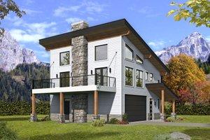 Modern Exterior - Front Elevation Plan #932-373