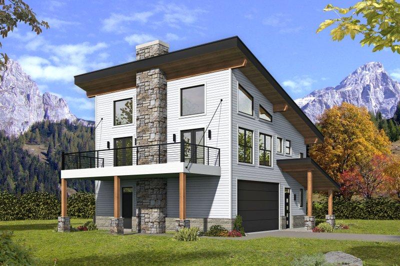 Modern Style House Plan - 2 Beds 2 Baths 1371 Sq/Ft Plan #932-373