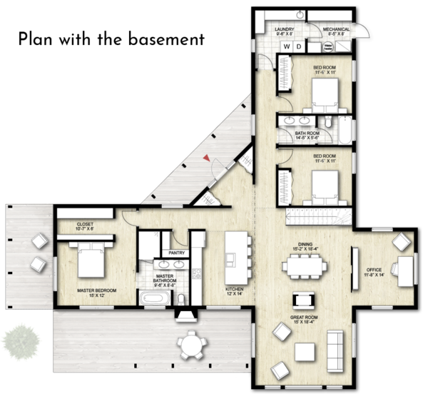 Architectural House Design - Contemporary Floor Plan - Other Floor Plan #924-1