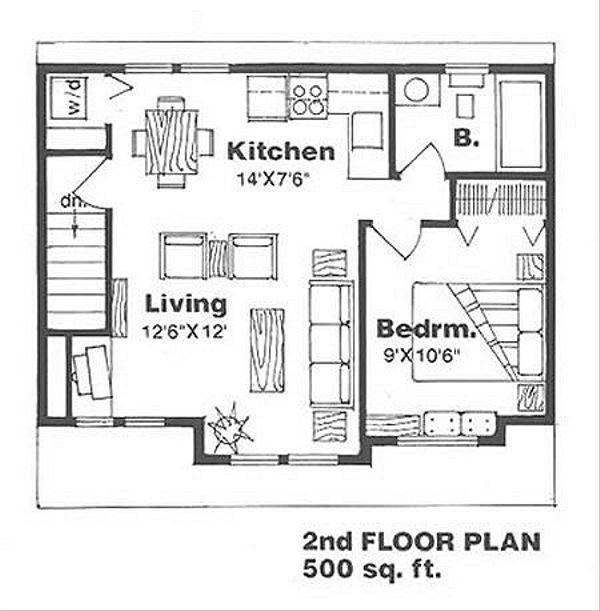 Farmhouse Floor Plan - Upper Floor Plan Plan #116-129