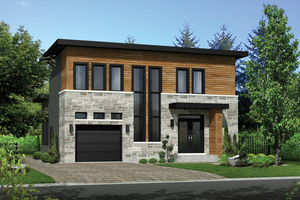 Contemporary Exterior - Front Elevation Plan #25-4528