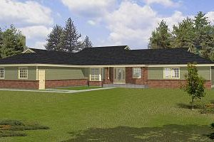 Ranch Exterior - Front Elevation Plan #112-142