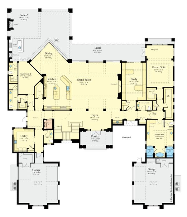 Contemporary Floor Plan - Main Floor Plan Plan #930-513