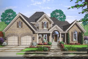 Dream House Plan - Traditional Exterior - Front Elevation Plan #46-869