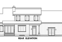 House Plan Design - Farmhouse Exterior - Rear Elevation Plan #23-729