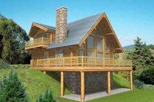 House Design - Log Exterior - Front Elevation Plan #117-318