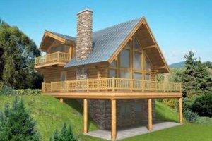 Log Exterior - Front Elevation Plan #117-318