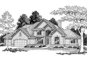 Traditional Exterior - Front Elevation Plan #70-428