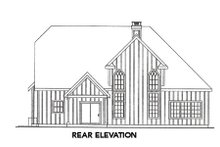 European Exterior - Rear Elevation Plan #124-644