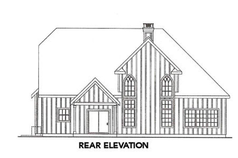 European Exterior - Rear Elevation Plan #124-644 - Houseplans.com