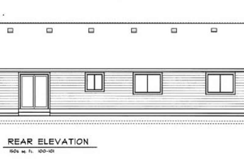 Traditional Exterior - Rear Elevation Plan #100-101 - Houseplans.com