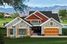 House Plan Design - Craftsman Exterior - Front Elevation Plan #70-1055