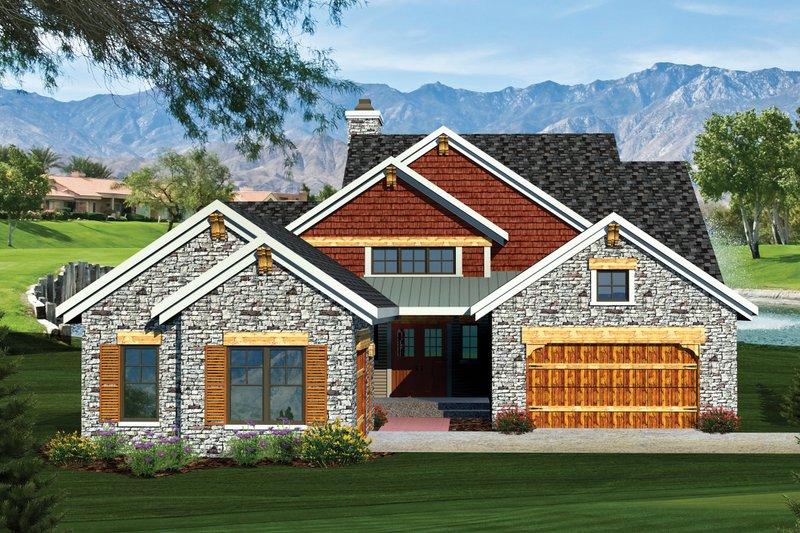 Craftsman Exterior - Front Elevation Plan #70-1055 - Houseplans.com