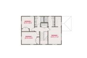 Craftsman Style House Plan - 3 Beds 2.5 Baths 1632 Sq/Ft Plan #461-56 Floor Plan - Upper Floor Plan