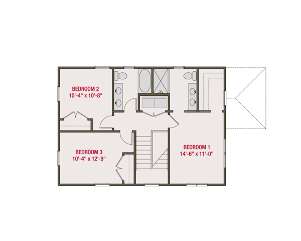Craftsman Floor Plan - Upper Floor Plan #461-56