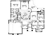 European Style House Plan - 4 Beds 3.5 Baths 2311 Sq/Ft Plan #417-233 Floor Plan - Main Floor