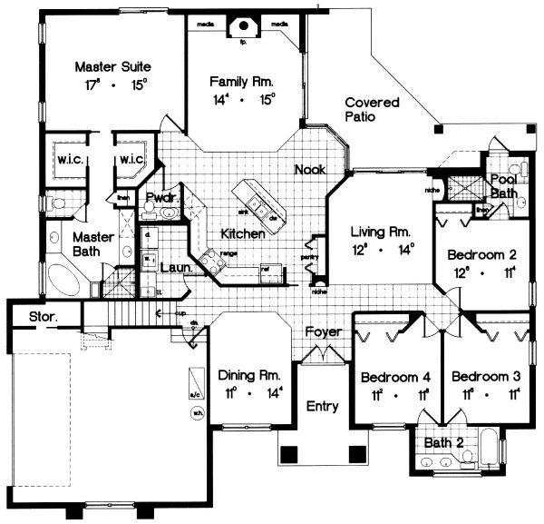 European Floor Plan - Main Floor Plan #417-233