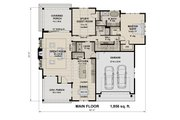 Contemporary Style House Plan - 3 Beds 3 Baths 2500 Sq/Ft Plan #51-587 Floor Plan - Main Floor Plan